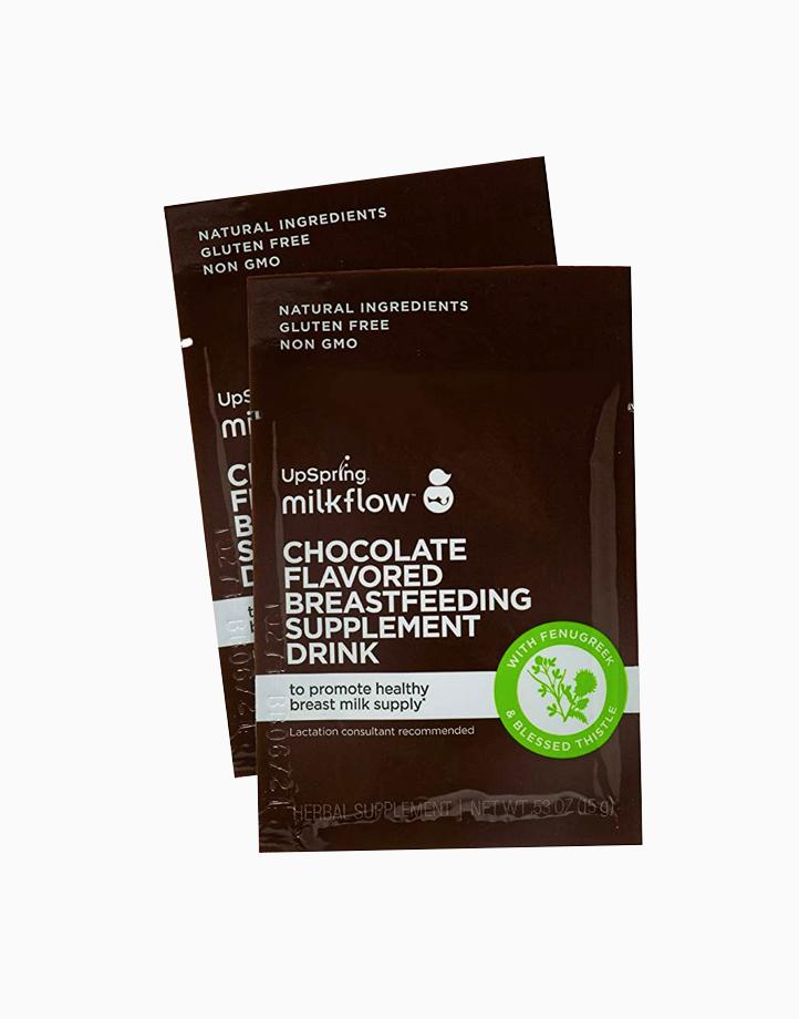 Milkflow Fenugreek + Blessed Thistle Chocolate Breastfeeding Supplement Drink (18 Packs) by UpSpring