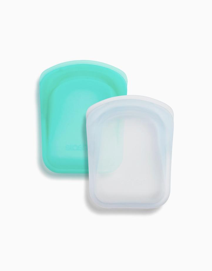 Stasher Pocket (Clear + Aqua) by Stasher