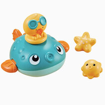Ocean friends bath toy   pufferfish green