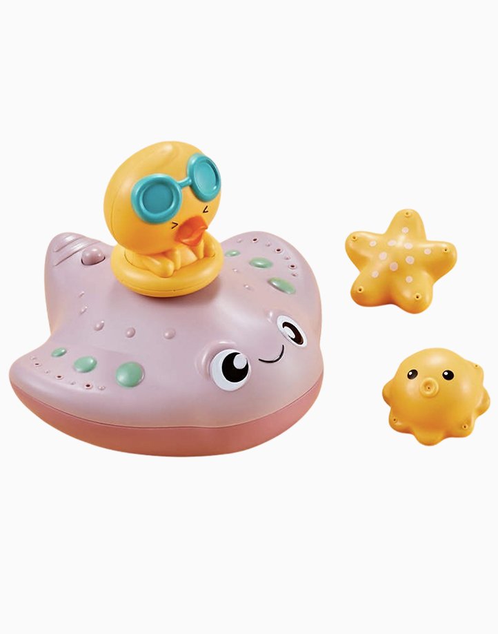 Ocean Friends Bath Toy (Stingray) by Little Hippo | Pink