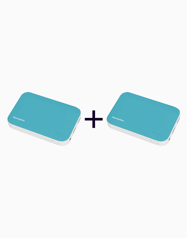 Clay Dual USB 9000mAh Powerbank (Buy 1, Take 1) by thecoopidea   Blue