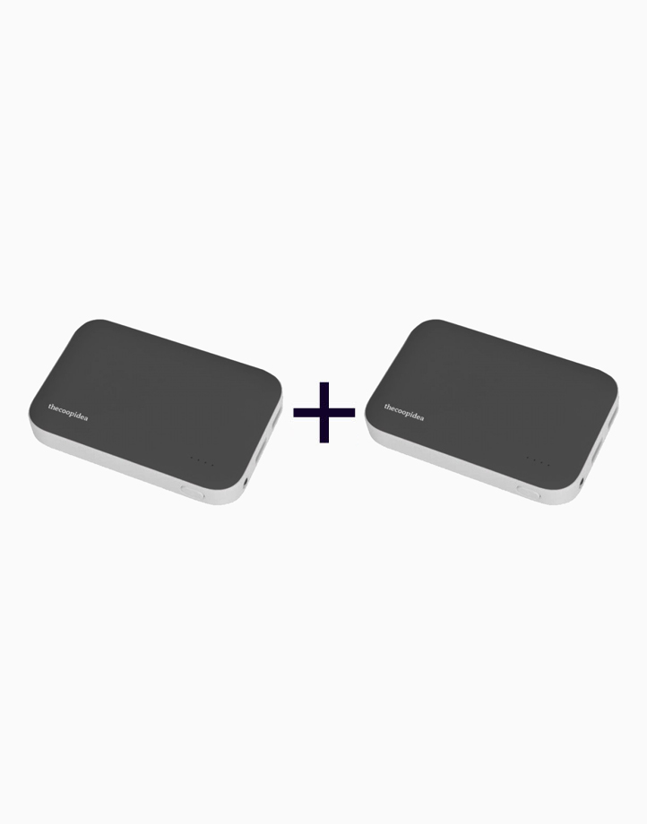 Clay Dual USB 9000mAh Powerbank (Buy 1, Take 1) by thecoopidea   Grey