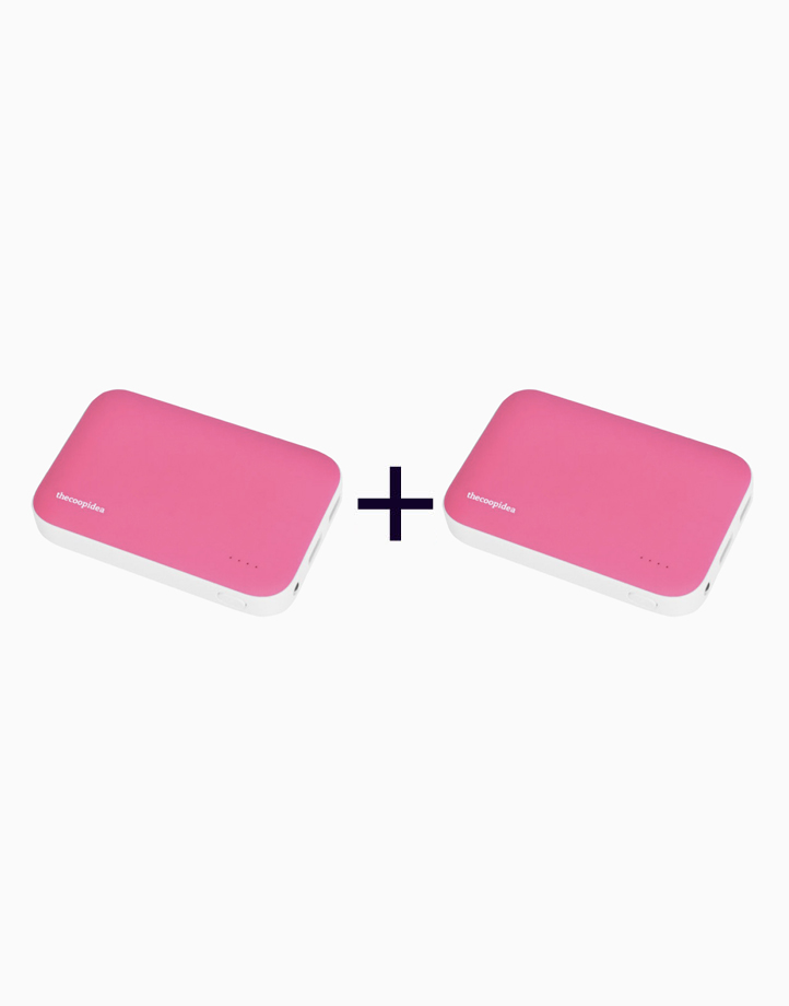 Clay Dual USB 9000mAh Powerbank (Buy 1, Take 1) by thecoopidea   Pink