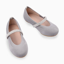 Kiara Ballet Flats (Kids) - Gray by Meet My Feet