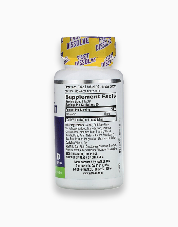 Melatonin - Fast Dissolve, Extra Strength, Strawberry (5mg, 90 Tablets) by Natrol