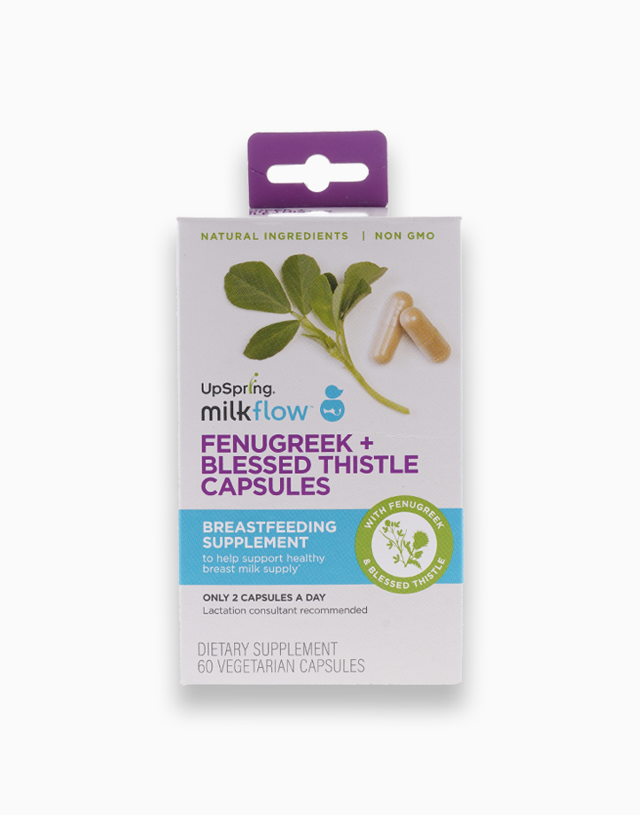 Milkflow Fenugreek + Blessed Thistle Capsules (60 Count) by UpSpring