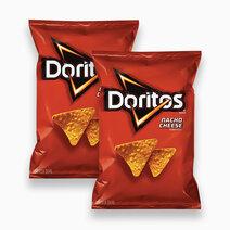 Frito lay doritos nacho cheese chips 198.4g %28pack of 2%29