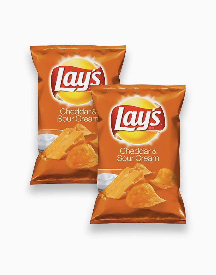 Lay's Cheddar Sour Cream Chips 184.2g (Pack of 2) by Frito Lay