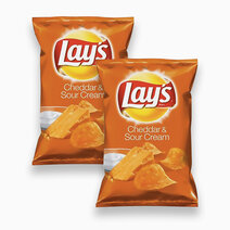 Frito lay cheddar sour cream chips 184.2g %28pack of 2%29
