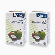 Kara UHT Coconut Cream 500ml (Pack of 2) by Kara