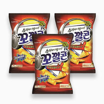 Lotte sweet corn chips %28spicy%29 72g %28pack of 3%29