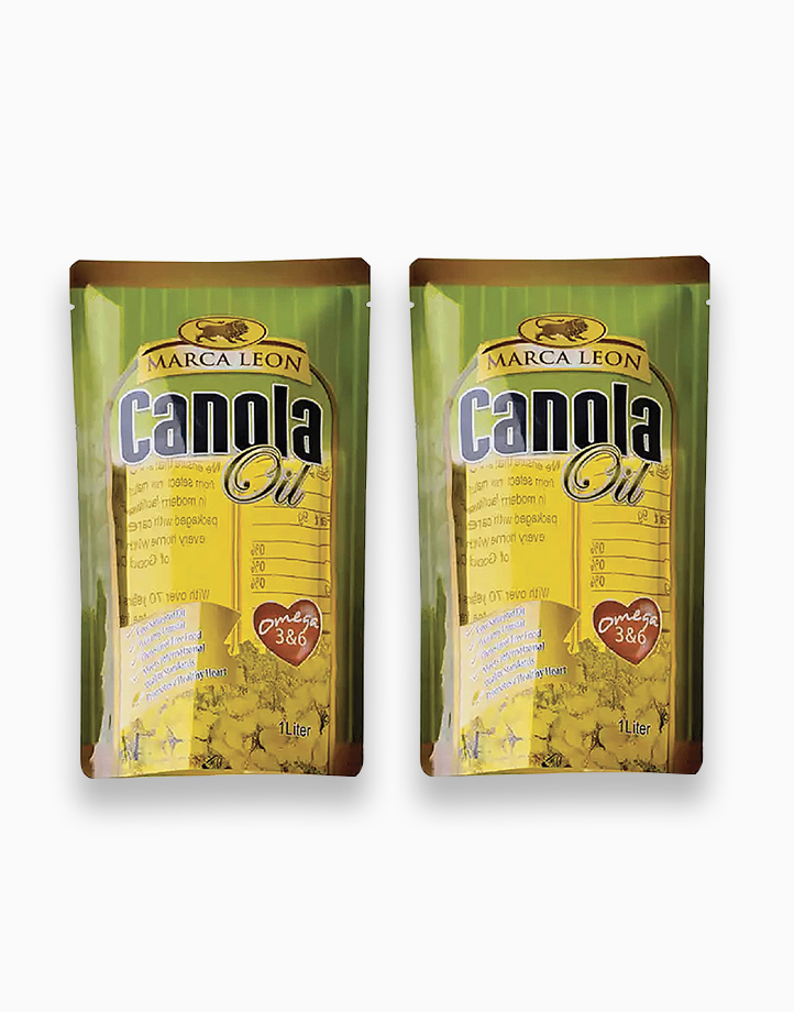 Marca Leon Canola Oil 1L (Pack of 2) by Marca Leon
