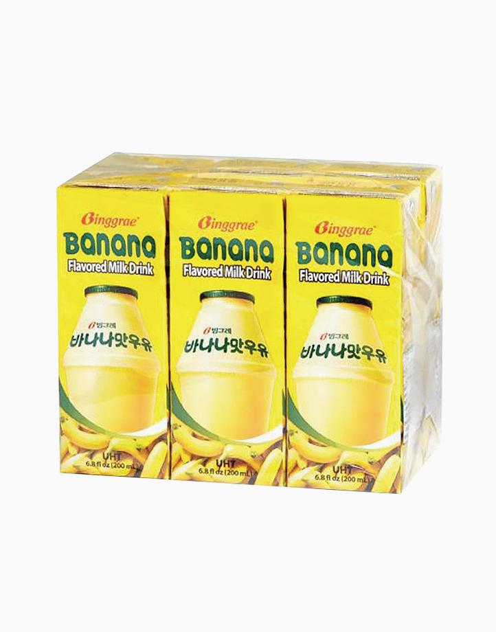 Binggrae Banana Flavored Milk 200ml (Pack of 6) by Binggrae