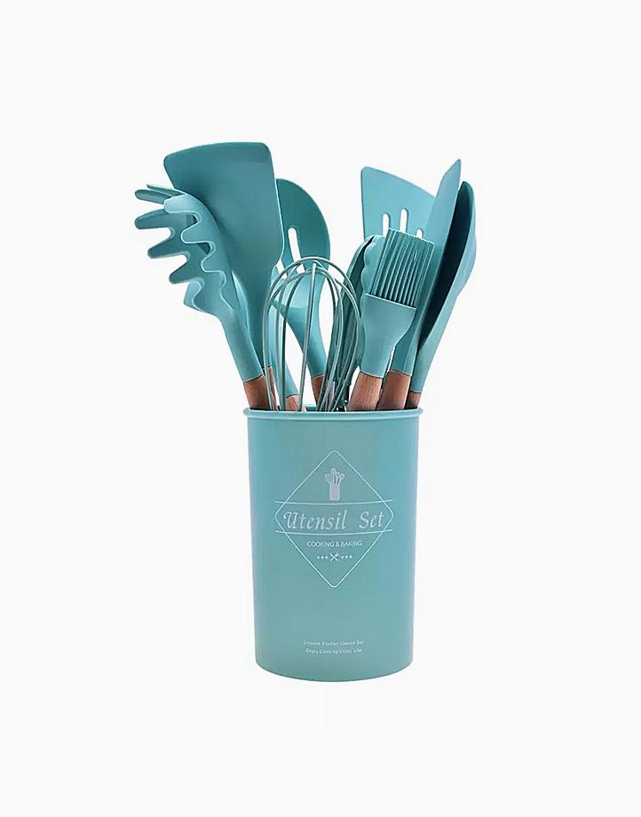 Kitchen Utensils Set (12 Pcs.) by Cozzina   Turquoise