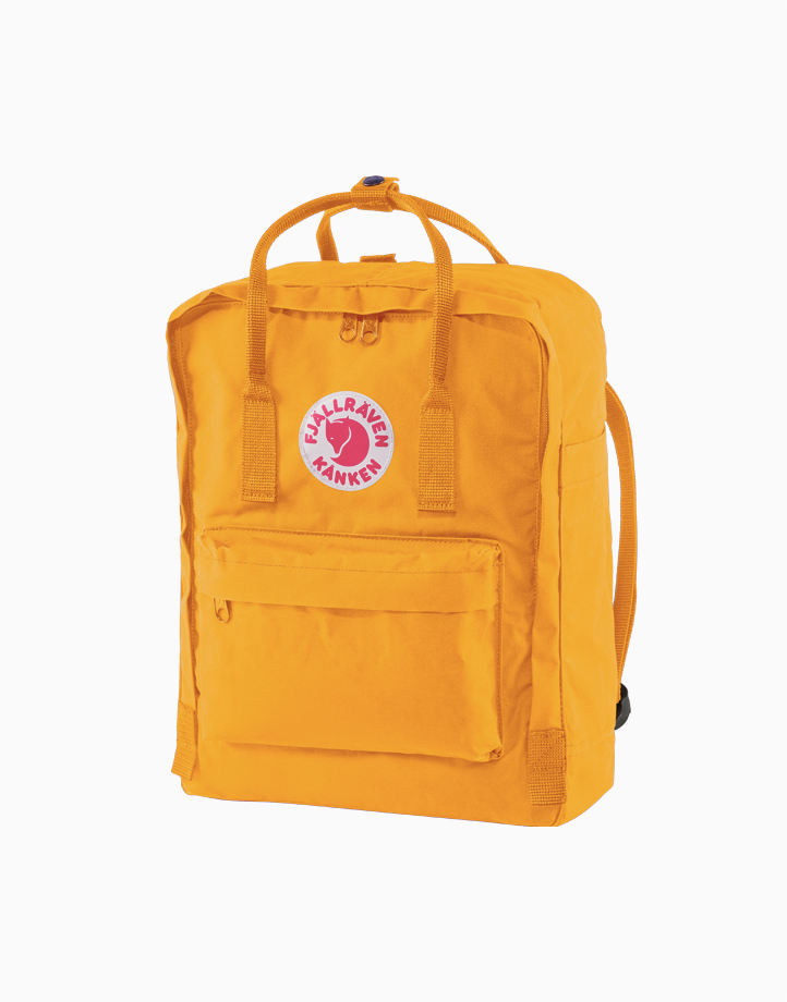 Backpack in Warm Yellow by Fjallraven Kanken