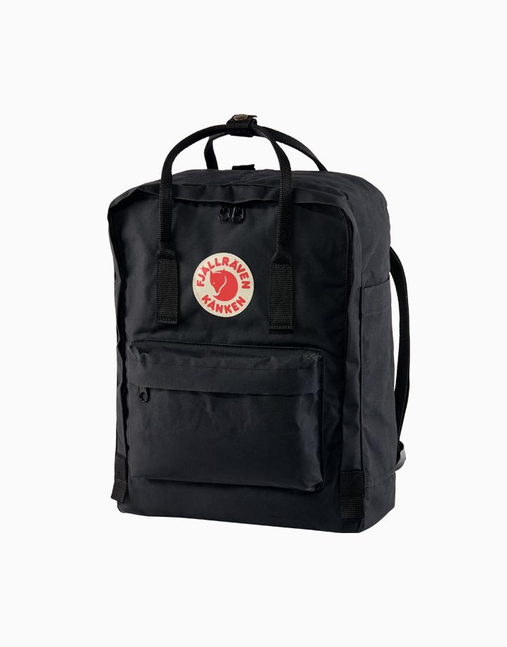 Backpack in Black by Fjallraven Kanken
