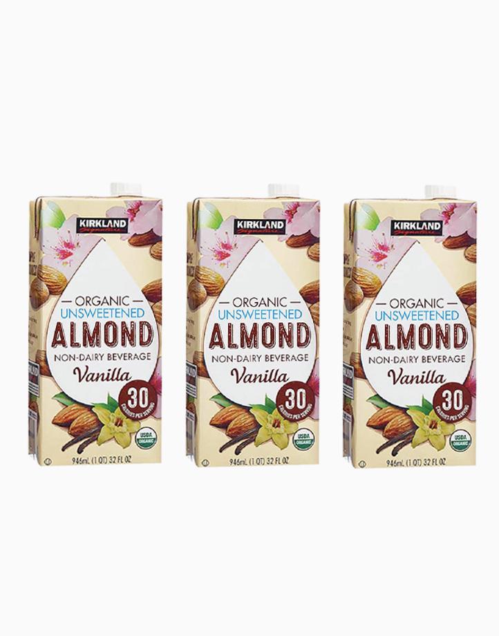 Kirkland Almond Milk Unsweetened Vanilla Flavor (pack of 3) by Kirkland