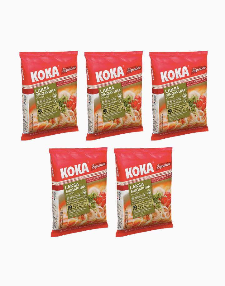 Laksa Singapura Instant Noodles (90g x 5) by Koka