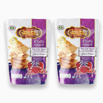 Little farm rice crisps sea crab w flossy chicken 100g %28pack of 2%29