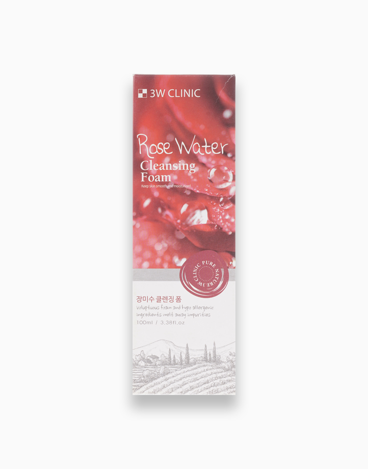 Rose Water Cleansing Foam by 3W Clinic