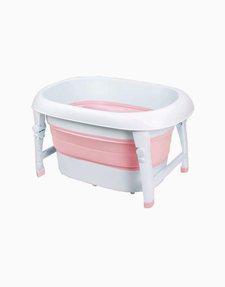 Collapsible Wash & Play Tub by Knicknacks | Pink