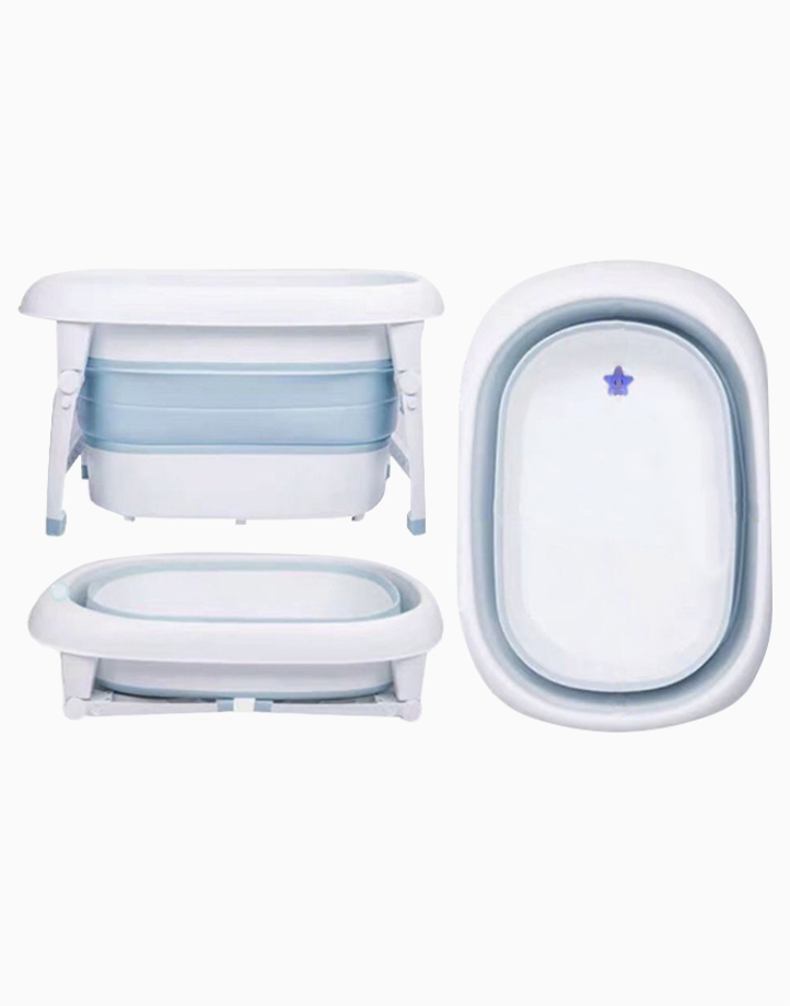 Collapsible Wash & Play Tub by Knicknacks | Blue