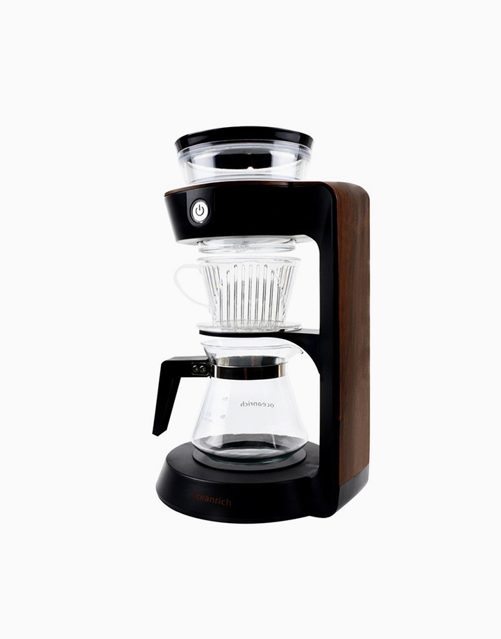 Automatic Pour Over Coffee Maker Single Wall Carafe by Oceanrich | Wooden