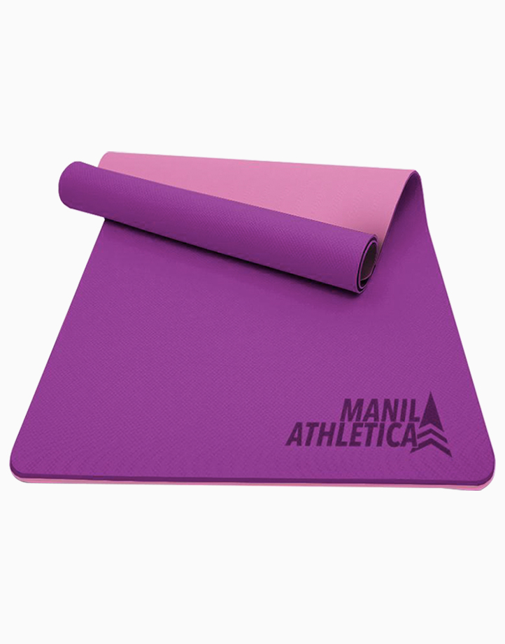 Dual Power Exercise Mat (Slim) by Manila Athletica | Purple + Pink