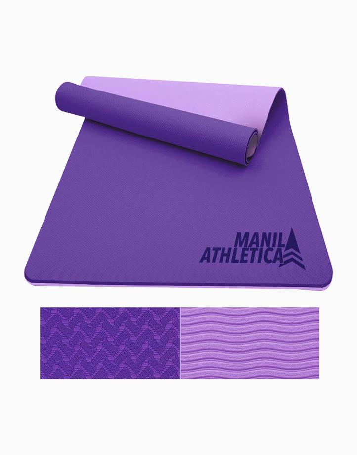 Dual Power Exercise Mat (Slim) by Manila Athletica | Indigo + Lavender