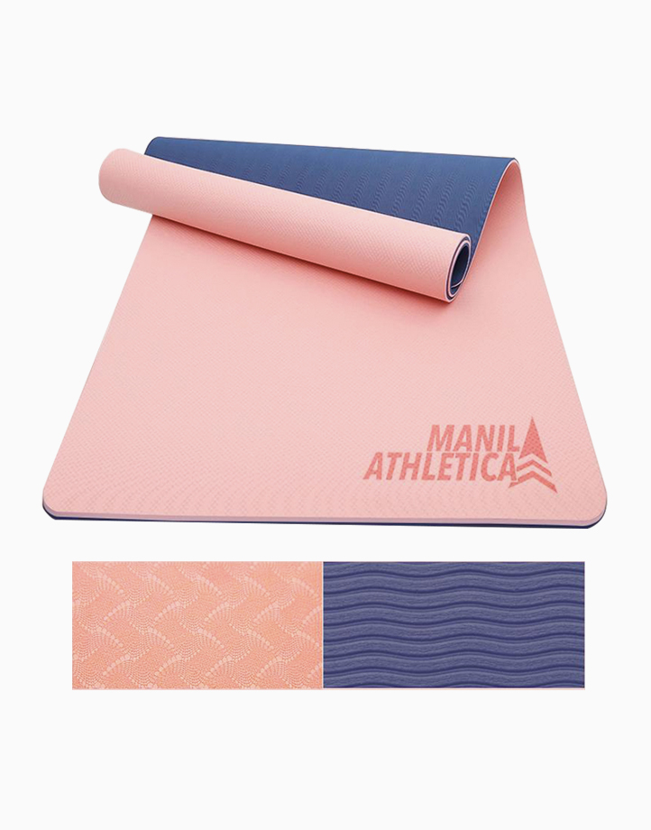 Dual Power Exercise Mat (Standard) by Manila Athletica | Peach + Periwinkle