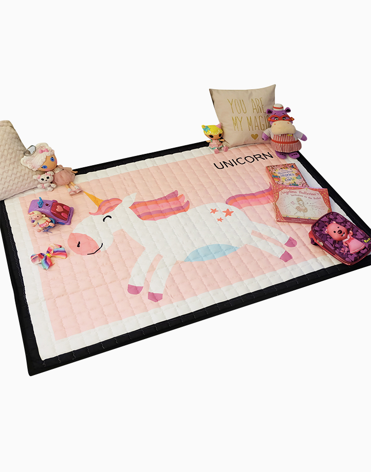 Quilted Non Skid Playmat by Lulubabyph | Unicorn