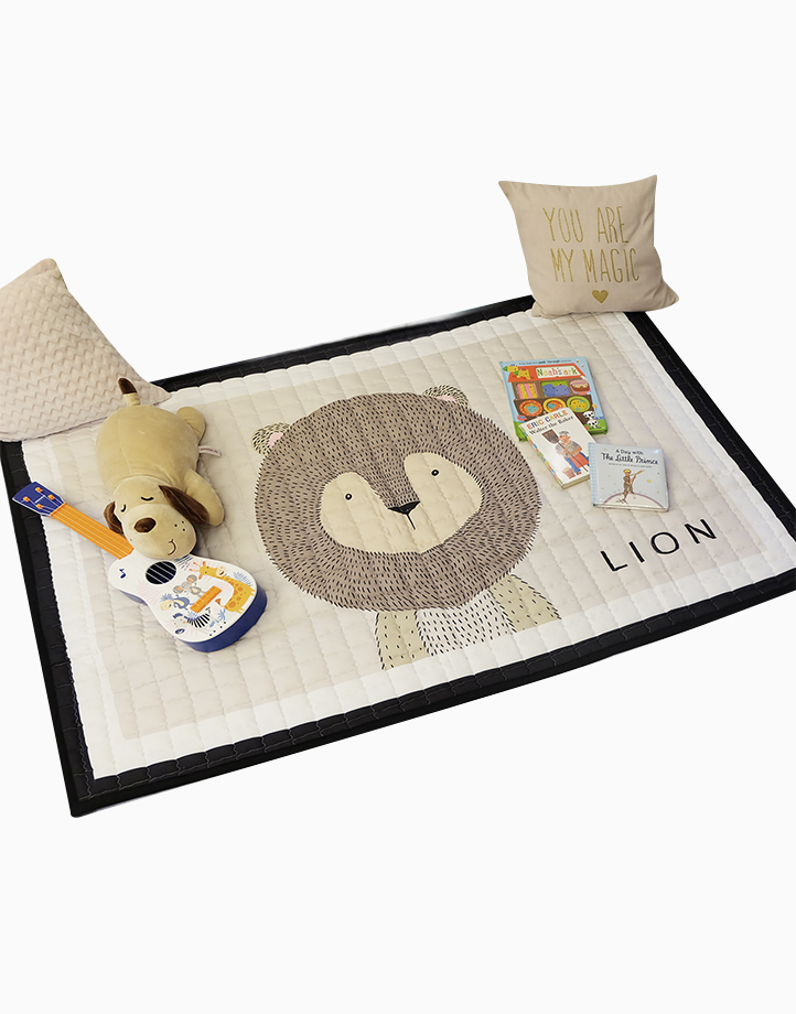 Quilted Non Skid Playmat by Lulubabyph | Lion