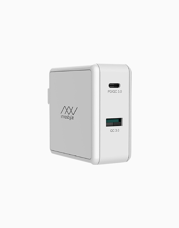 GoMax 2-Port PD/QC USB-C Charger 49.5W by Innostyle | White