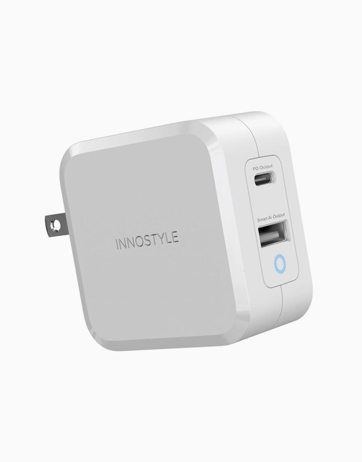 Zeni 2-Port GaN USB-C Charger 65W - White by Innostyle