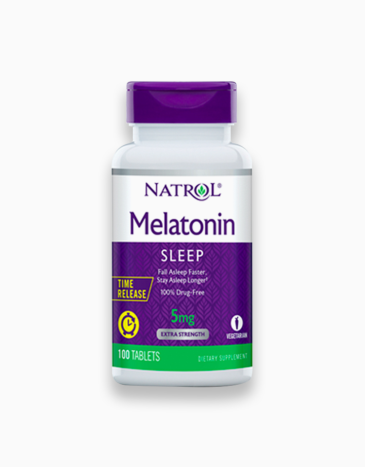 Melatonin, Time Release, Extra Strength (5mg, 100 Tablets) by Natrol