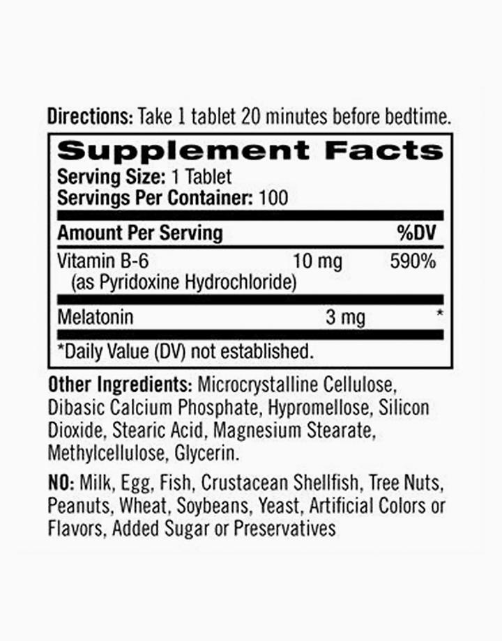 Melatonin, Time Release (3mg, 100 Tablets) by Natrol