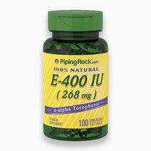 Natural Vitamin E-400 IU (100s) by Piping Rock