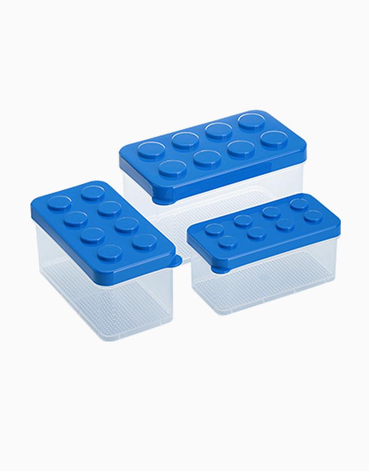 Shimoyama Lego Box (Set of 3) by Simply Modular | Blue