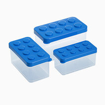 Shimoyama lego box set of 3 blue 1
