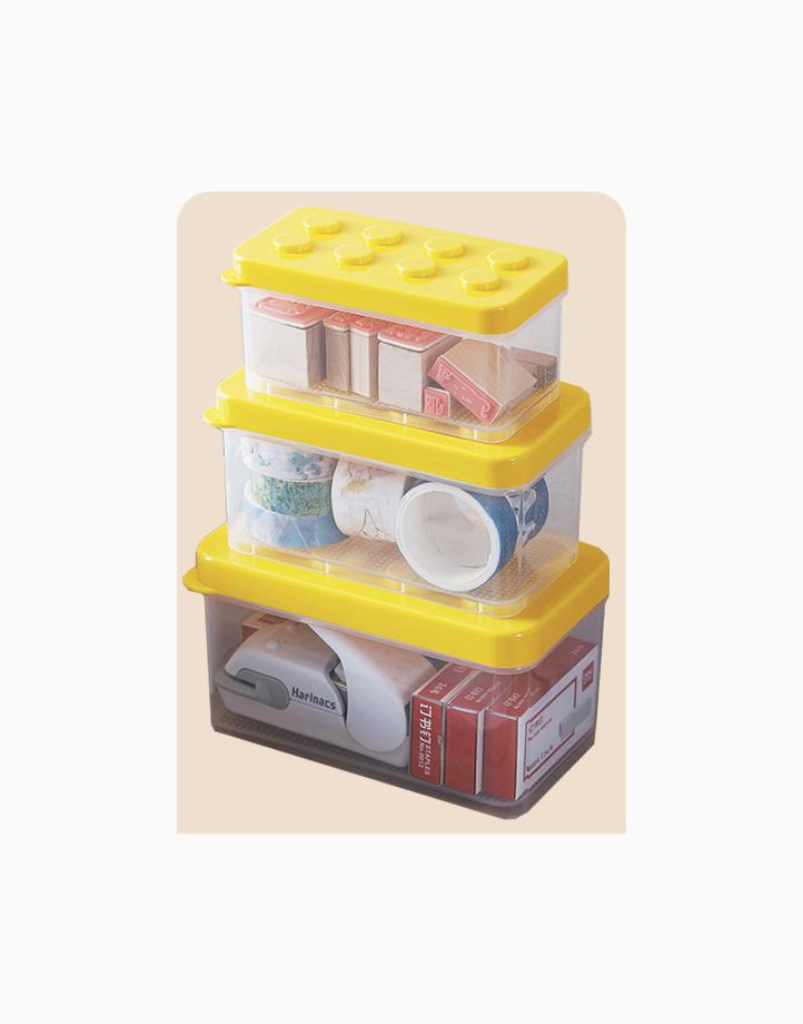 Shimoyama Lego Box (Set of 3) by Simply Modular | Yellow