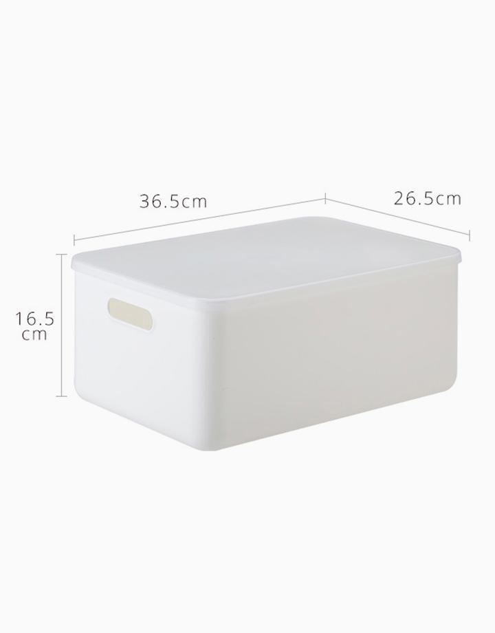 Shimoyama Medium White Handled Storage Box (With Lid) by Simply Modular
