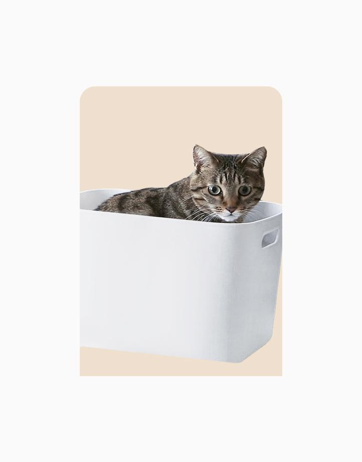 Shimoyama PE Storage Box Soft Touch Big Deep Size (No Lid) by Simply Modular | Gray