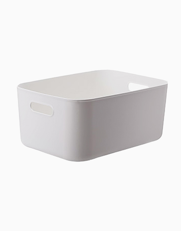 Shimoyama PE Storage Box Soft Touch Big Shallow Size (No Lid) by Simply Modular | Gray