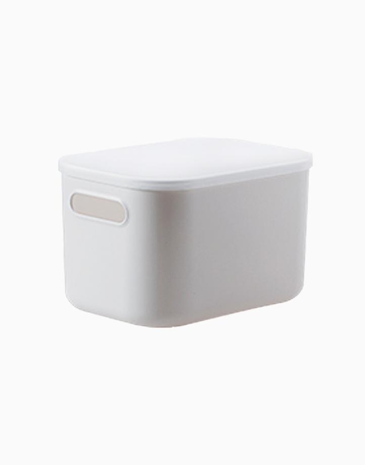 Shimoyama Small Gray Deep Storage Box (With Lid) by Simply Modular