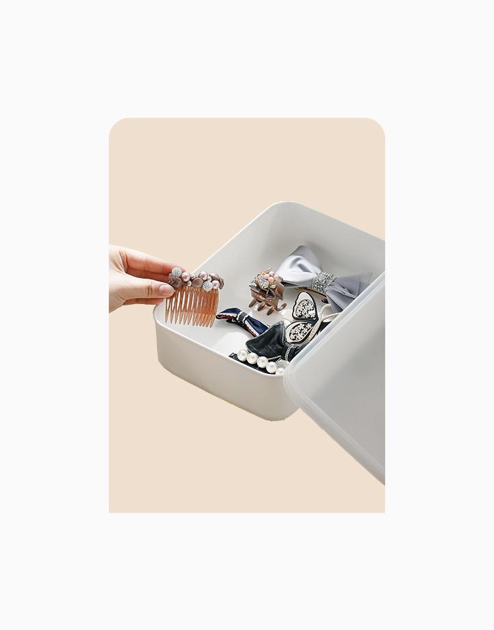 Shimoyama Small White Flat Storage Box (With Lid) by Simply Modular