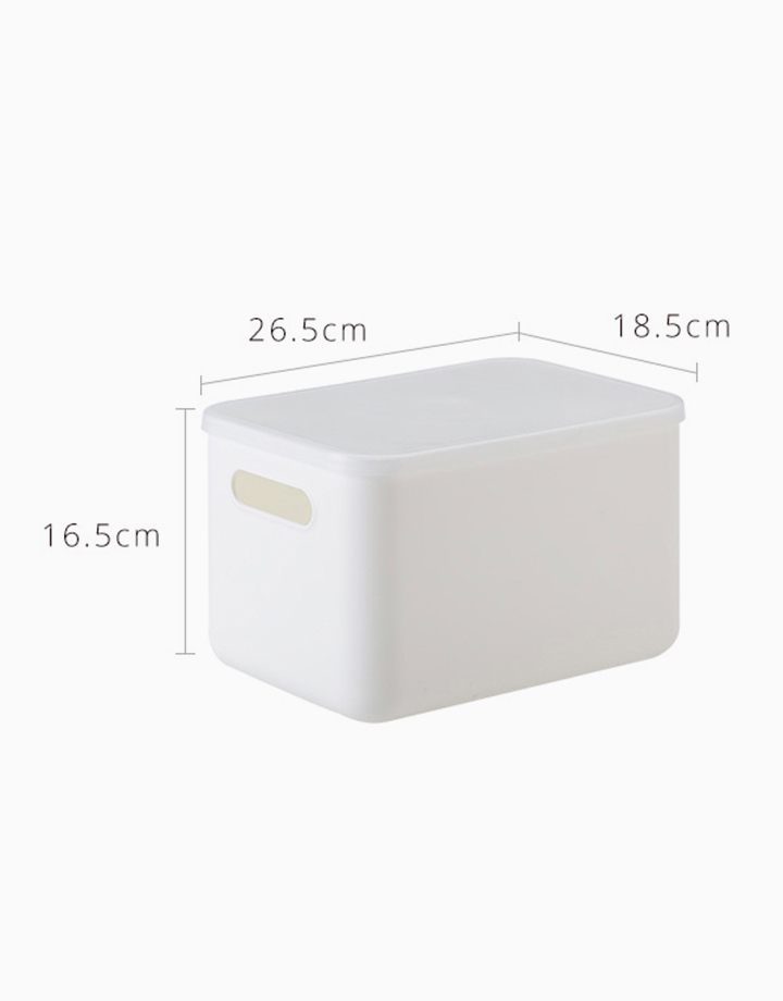 Shimoyama Small White Handled Storage Box (With Lid) by Simply Modular