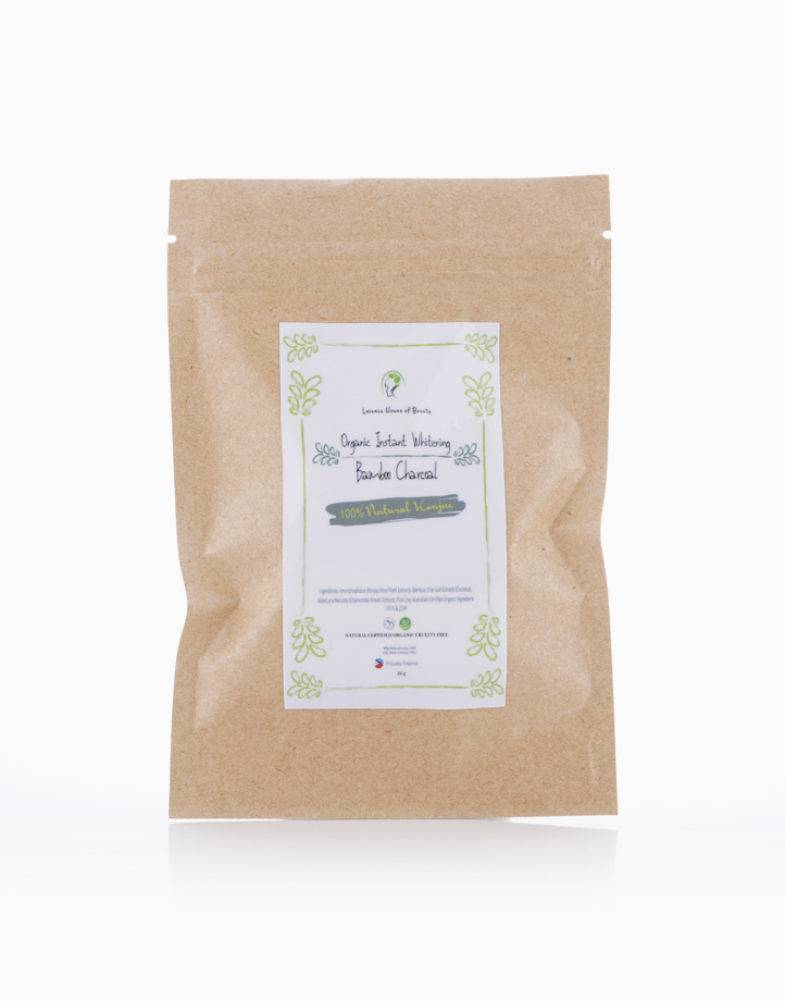 Organic Instant Whitening Bamboo Charcoal 100% Natural Konjac  by Leiania House of Beauty