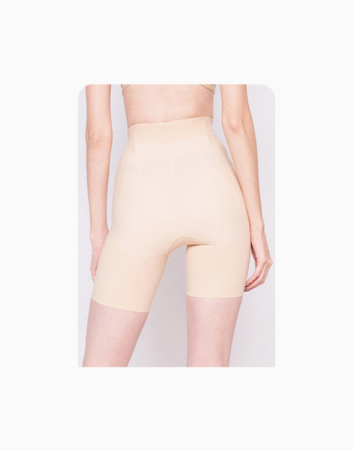 High-Waisted Shaper Shorts with Energy Stones (Nude) by Adam & Eve   L