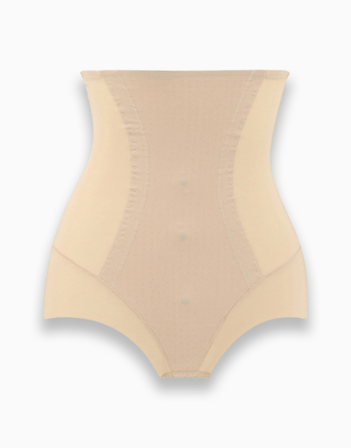 High-Waisted Slimming Shaper Panty with Energy Stone (Nude) by Adam & Eve | S