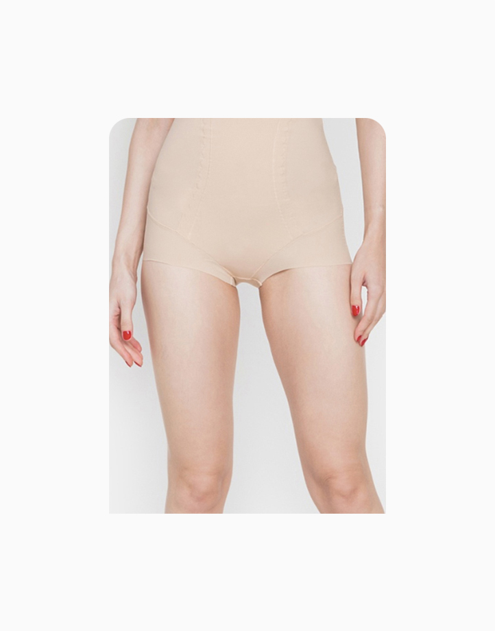 High-Waisted Slimming Shaper Panty with Energy Stone (Nude) by Adam & Eve | L
